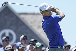 June 16, 2018 - Southampton, NY, USA - Zach Johnson hits from the 1st tee during the third round of the 2018 U.S. Open at Shinnecock Hills Country Club in Southampton, N.Y., on Saturday, June 16, 2018. (Credit Image: © Brian Ciancio/TNS via ZUMA Wire)