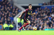 Raheem Sterling of Manchester City in action. Premier league match, Everton v Manchester City at Goodison Park in Liverpool, Merseyside on Sunday 15th January 2017.<br /> pic by Chris Stading, Andrew Orchard sports photography.