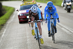 March 7, 2017 - Chalon Sur Saone, France - CHALON-SUR-SAONE, FRANCE - MARCH 7 : LATOUR Pierre-ROGER (FRA) Rider of Team AG2R La Mondiale and COMBAUD Romain (FRA) Rider of Delco Marseille Provence KTM are the escape group in the final during stage 03 of the 75th edition of the Paris - Nice cycling race, a stage of 190 km with start in Chablis and finish in Chalon-Sur-Saone on March 07, 2017 in Chalon-Sur-Saone, France, 7/03/2017 (Credit Image: © Panoramic via ZUMA Press)