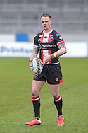 Kevin Brown (7) of Salford Red Devils with the ball