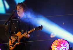 Johnny Borrell of Razorlight performing at half time during the Betfred Super League Grand Final at Old Trafford, Manchester. PRESS ASSOCIATION Photo. Picture date: Saturday October 7, 2017. See PA story RUGBYL Final. Photo credit should read: Richard Sellers/PA Wire. RESTRICTIONS: Editorial use only. No commercial use. No false commercial association. No video emulation. No manipulation of images