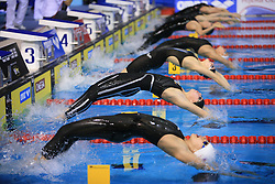 Backstroke start at 3rd day of LEN European Short Course Swimming Championships Rijeka 2008, on December 13, 2008,  in Kantrida pool, Rijeka, Croatia. (Photo by Vid Ponikvar / Sportida)
