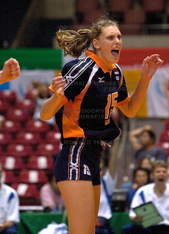 21-06-2000 JAP: OKT Volleybal 2000, Tokyo<br /> Nederland - Croatie 2-3 / Ingrid Visser