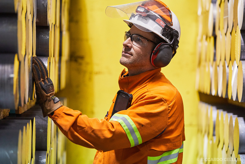 Rio Tinto Operations Saguenay Corporate industrial photography. Rio Tinto Aluminum operations in Saguenay-Lac St-Jean region of Québec. 2019.