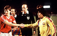 Football - 1983 / 1984 European Cup Winners' Cup - Quarter-Final, Second Leg: Manchester United 3 (3) Barcelona 0 (2)<br />