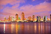 San Diego skyline from Centennial Park on Coronado Island.