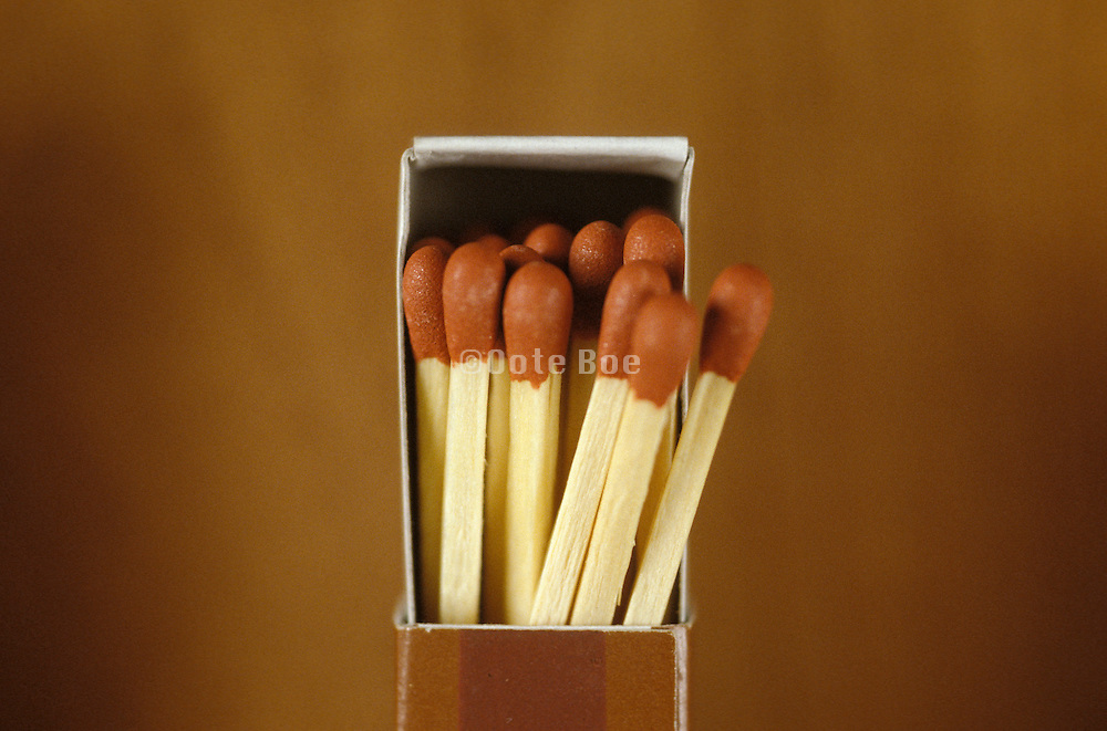 Small box full of matches.