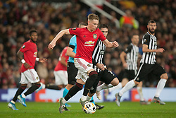 Scott McTominay of Manchester United in action - Mandatory by-line: Jack Phillips/JMP - 07/11/2019 - FOOTBALL - Old Trafford - Manchester, England - Manchester United v Partizan - UEFA Europa League