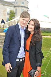 HUGO BAMBERGER and FEARNE THOMSON at a luncheon hosted by Cartier for their sponsorship of the Style et Luxe part of the Goodwood Festival of Speed at Goodwood House, West Sussex on 1st July 2012.