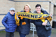 Wolves fans  during the The FA Cup fourth round match between Shrewsbury Town and Wolverhampton Wanderers at Greenhous Meadow, Shrewsbury, England on 26 January 2019.
