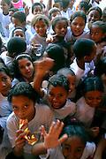 Sao Paulo_SP, Brasil...Estudantes brincando no intervalo da aula da Escola Estadual Brigadeiro Gaviao Peixoto. ..Students playing during the interval of the class in State School Brigadeiro Gaviao Peixoto. ..Foto: LEO DRUMOND / NITRO