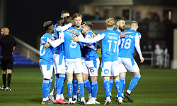 Jack Taylor of Peterborough United is congratulated by team-mates after scoring the opening goal - Mandatory by-line: Joe Dent/JMP - 28/11/2020 - FOOTBALL - Weston Homes Stadium - Peterborough, England - Peterborough United v Chorley - Emirates FA Cup second round