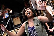 Open repetitie HAIR in de studio van Stage Entertainment.<br /> <br /> op de foto: Raffaela Paton