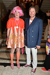 GRAYSON PERRY and SIMON LE BON at the annual Royal Academy of Art Summer Party held at Burlington House, Piccadilly, London on 4th June 2014.