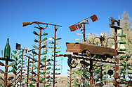 This amazing collection of bottle trees is on historic Route 66 in California