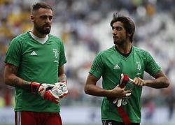 August 25, 2018 - Turin, Italy - Carlo Pinsoglio and Mattia Perin during Serie A match between Juventus v Lazio, in Turin, on August 25, 2018  (Credit Image: © Loris Roselli/NurPhoto via ZUMA Press)