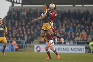 Northampton Town Striker Ricky Holmes battles for the ball  during the Sky Bet League 2 match between Northampton Town and Cambridge United at Sixfields Stadium, Northampton, England on 12 March 2016. Photo by Dennis Goodwin.
