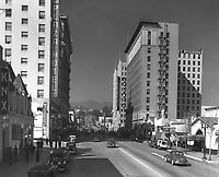 1938 Looking North on Vine St. towards Hollywood Blvd.