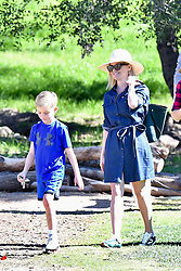 Reese Witherspoon and Jim Toth take their son to a soccer practice. **SPECIAL INSTRUCTIONS*** Please pixelate children's faces before publication.***. 01 Feb 2020 Pictured: Reese Witherspoon and her husband take their son to a soccer practice. Photo credit: BG/MEGA TheMegaAgency.com +1 888 505 6342