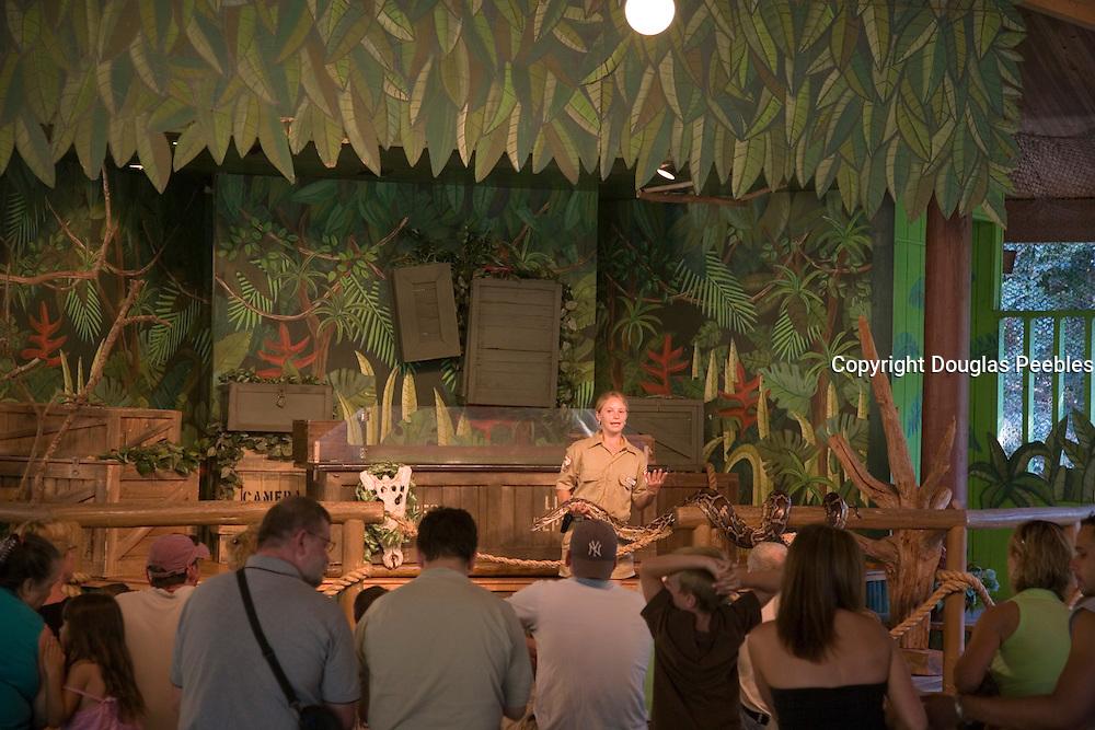 Reptile show, St. Augustine Alligator Farm, St. Augustine, Florida, USA<br />