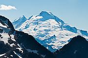 Mount Baker (10,781 feet elevation), seen from Hannegan Peak, North Cascades, Washington, USA