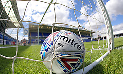 A general view of the official EFL Mitre match ball in the goal at the ABAX Stadium, home of Peterborough United - Mandatory by-line: Joe Dent/JMP - 28/07/2018 - FOOTBALL - ABAX Stadium - Peterborough, England - Peterborough United v Bolton Wanderers - Pre-season friendly