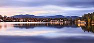 Lake Placid in the Adirondack Mountains at Dusk, Upstate New York, USA