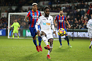Nathan Dyer of Swansea city in action. Premier league match, Swansea city v Crystal Palace at the Liberty Stadium in Swansea, South Wales on Saturday 23rd December 2017.<br /> pic by  Andrew Orchard, Andrew Orchard sports photography.