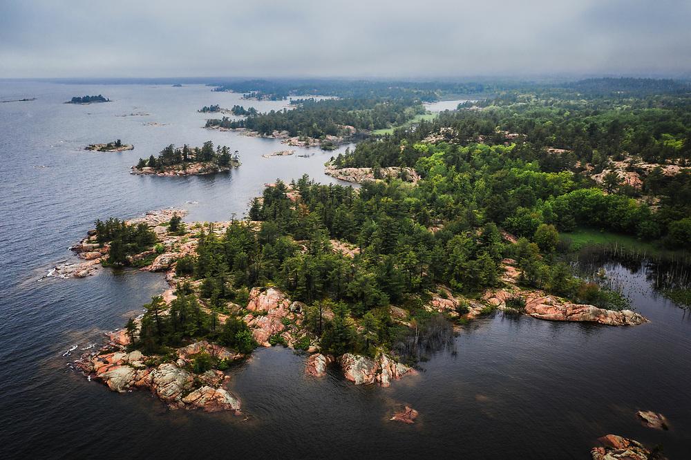 Islands of Georgian Bay, lake Huron, at Killarney Provincial Park, Ontario