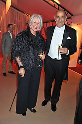 BETTY JACKSON and her husband DAVID COHEN at the Raisa Gorbachev Foundation Gala held at the Stud House, Hampton Court, Surrey on 22nd September 22 2011