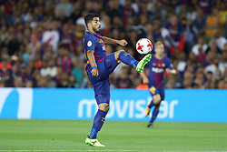 August 13, 2017 - Barcelona, Spain - Luis Suarez of FC Barcelona during the Spanish Super Cup football match between FC Barcelona and Real Madrid on August 13, 2017 at Camp Nou stadium in Barcelona, Spain. (Credit Image: © Manuel Blondeau via ZUMA Wire)