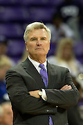 FORT WORTH, TX - JANUARY 7: Kansas State Wildcats head coach Bruce Weber looks on against the TCU Horned Frogs on January 7, 2014 at Daniel-Meyer Coliseum in Fort Worth, Texas.  (Photo by Cooper Neill/Getty Images) *** Local Caption *** Bruce Weber