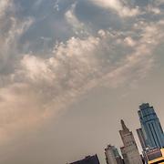 Kansas City MO Skyline and the sky.