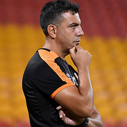 BRISBANE, AUSTRALIA - APRIL 21: Brisbane Roar Assistant Coach Ross Aloisi looks on before the Hyundai A-League Elimination Final match between the Brisbane Roar and Western Sydney Wanderers at Suncorp Stadium on April 21, 2017 in Brisbane, Australia. (Photo by Patrick Kearney/Brisbane Roar)