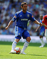 Frank Lampard<br /> Chelsea 2009/10<br /> Chelsea V Manchester United (2-2) 09/08/09<br /> Chelsea Win on Penalties (4-1) During Penalty Shootout<br /> The FA Community Shield 2009 Wembley Stadium<br /> Photo Robin Parker Fotosports International