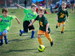 12 October 2013. Carrolton Boosters Soccer. New Orleans, Louisiana. <br /> U8 Jesters v Flash<br /> Photo; Charlie Varley