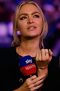 Sky Sports presenter Laura Woods during the PDC World Championship darts at Alexandra Palace, London, United Kingdom on 14 December 2018.