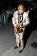 July 24, 2012-New York, NY: Recording Artist Lonnie Youngblood attends the official Slyvia Woods Harlem Community memorial and send off through the streets of Harlem. Sylvia Woods was an American restaurateur who co-founded the landmark restaurant Sylvia's in Harlem on Lenox Avenue, New York City with her husband, Herbert Woods, in 1962. (Photo by Terrence Jennings)