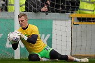 Craig MacGillivray of Portsmouth warm up during the EFL Sky Bet League 1 match between Wycombe Wanderers and Portsmouth at Adams Park, High Wycombe, England on 6 April 2019.