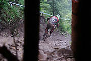 UCI World Cup mountain bike Downhill 4, Champery, Switzerland. July 24.