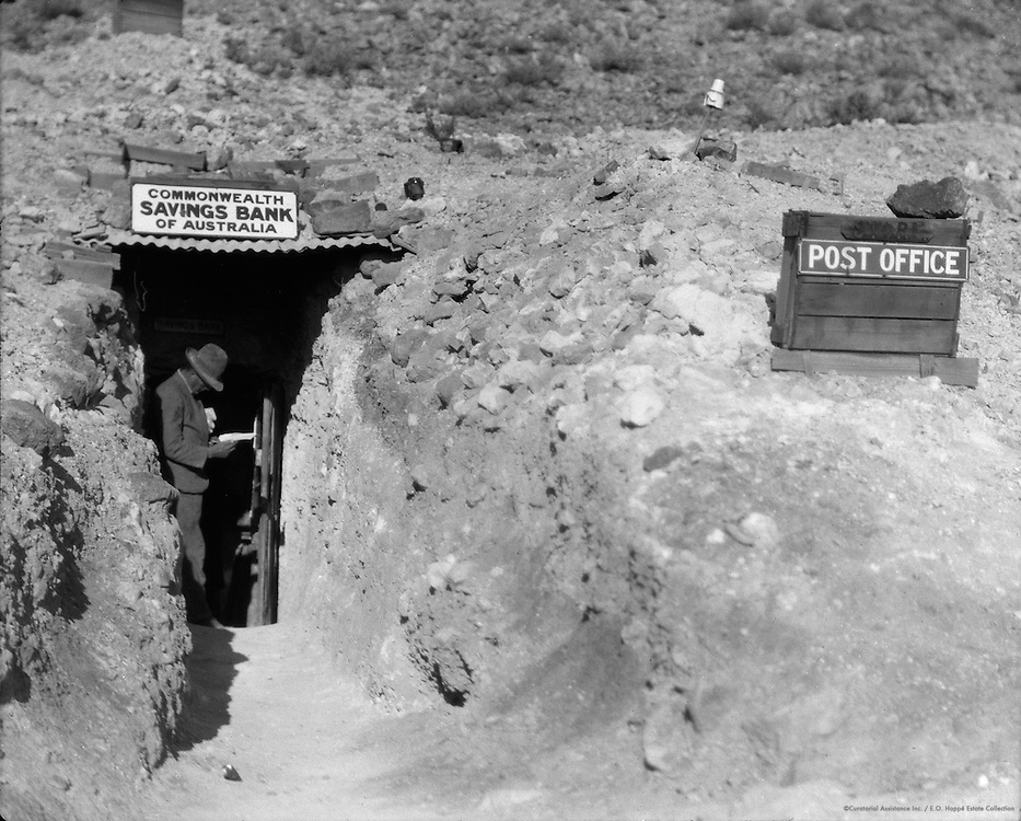 """""""The Bank"""" at Coober Pedy Opal Fields, South Australia, 1930"""