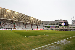 23.07.2015, Stadion Poljud, Split, CRO, UEFA EL, HNK Hajduk Split vs FC Luka Koper, Qualifikation, 2. Runde, Rückspiel, im Bild The UEFA Disciplinary Committee has ruled that Croatia will be deducted 1 point following the swastika incident at Poljud stadium during Croatia's 1-1 draw with Italy in a Euro 2016 qualifier on 12 June. The Croatian football federation was also fined 100,000 euros and Croatia's next two home matches will be played behind closed doors. The Croatian football federation has also been banned from using Split's Poljud stadium as a venue for the rest of the 2016 qualifying campaign // during the UEFA Europa League Qualifier, Second round, second Leg match between HNK Hajduk Split and FC Luka Koper at the Stadion Poljud in Split, Croatia on 2015/07/23. EXPA Pictures © 2015, PhotoCredit: EXPA/ Pixsell/ Petar Glebov<br /> <br /> *****ATTENTION - for AUT, SLO, SUI, SWE, ITA, FRA only*****