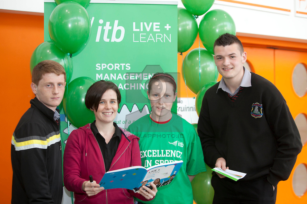 Gavin Higgins form Coolock, ITB Lecturer Denise Martin, ITB student Sinead Deegan and Ryan Scully from Coolock