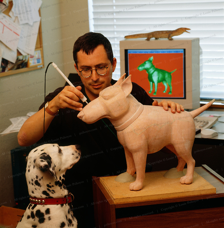 Eben Ostby, an Animation Scientist at work for Pixar.<br /> Steve Jobs, founder of Apple Computer bought animation company Pixar off George Lukas in 1986 and turned it into a Academy-Award-winning studio.