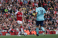 Hector Bellerin of Arsenal on the ball.  Premier league match, Arsenal v AFC Bournemouth at the Emirates Stadium in London on Saturday 9th September 2017. pic by Kieran Clarke, Andrew Orchard sports photography.