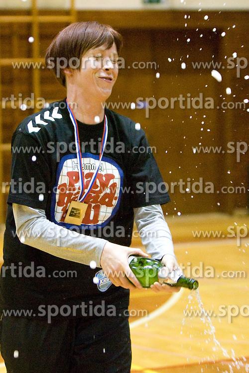 Goalkeeper of Krim Sergeja Stefanisin at last 10th Round handball match of Slovenian Women National Championships between RK Krim Mercator and RK Olimpija, on May 15, 2010, in Galjevica, Ljubljana, Slovenia. Olimpija defeated Krim 39-36, but Krim became Slovenian National Champion. (Photo by Vid Ponikvar / Sportida)