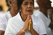 India, Devote woman at pray