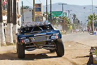 #3 trophy truck of Riviera racing near start in Ensendada. 1296 miles later they would finish in first place.  2007 Baja 1000