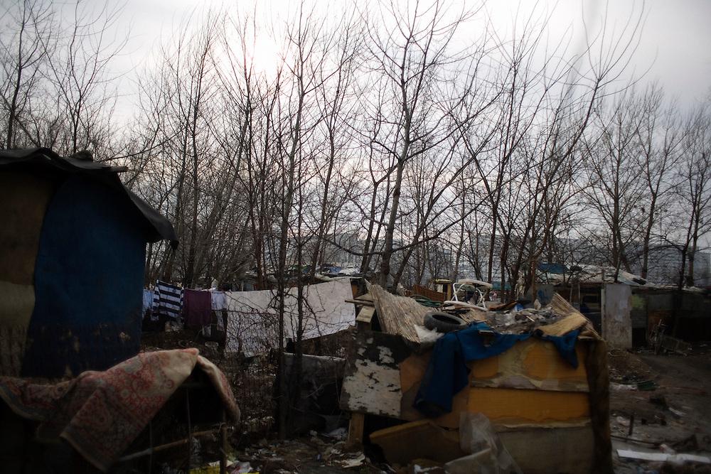 Homes in the New Belgrade Roma settlement of Belville.