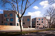 building of the school campus Bildungslandschaft Altstadt Nord (BAN) near the Klingelpuetz park, architect Gernot Schulz, Cologne, Germany<br /> <br /> Gebaeude des Schulcampus Bildungslandschaft Altstadt Nord (BAN) am Klingelpuetzpark, Architekt Gernot Schulz, Koeln, Deutschland.